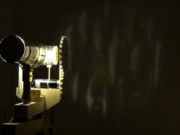 lichtklangphonogramm,  projecting phonoscope, Matteo Marangoni, Anne Wellmer